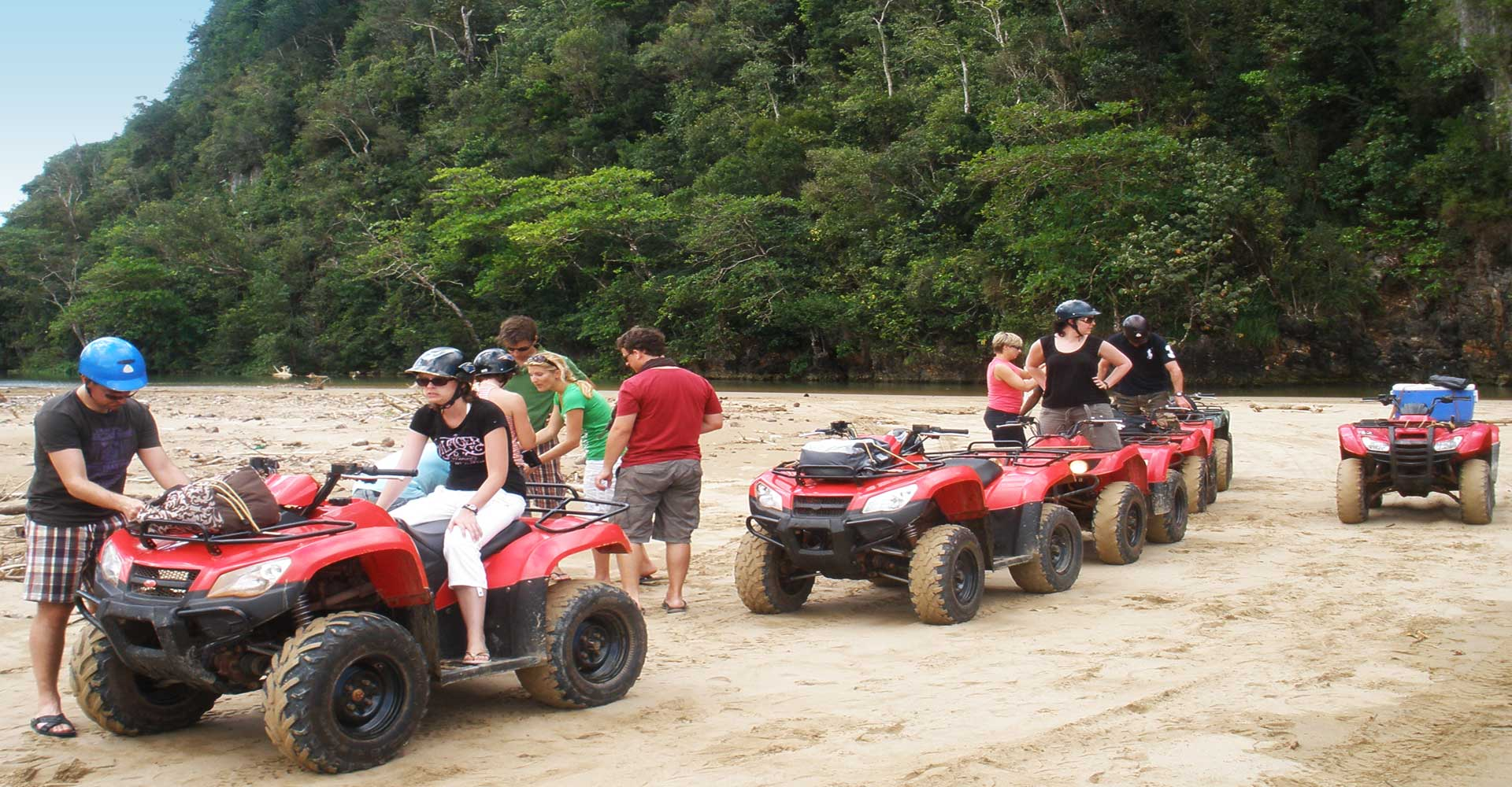 atv quad four wheeler tour in samana dominican republic. Black Bedroom Furniture Sets. Home Design Ideas